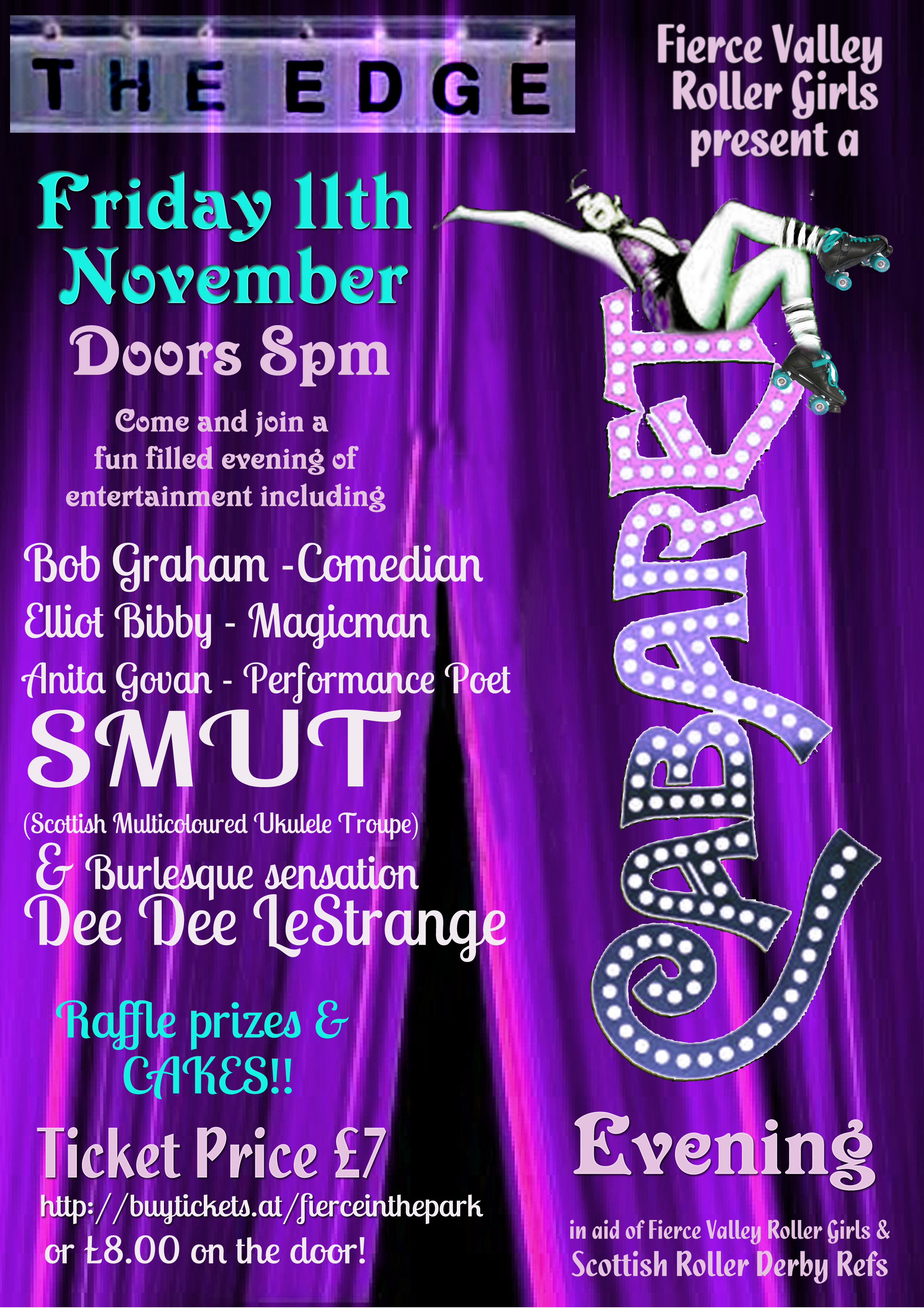 Cabaret Night poster, designed by Claire Fotheringham