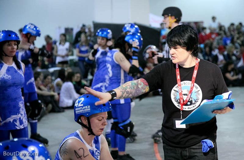 Tarce in action at the Roller Derby World Cup in December