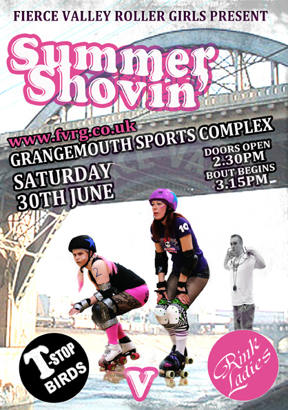 Summer Shovin' Poster - Design by Claire Brunton