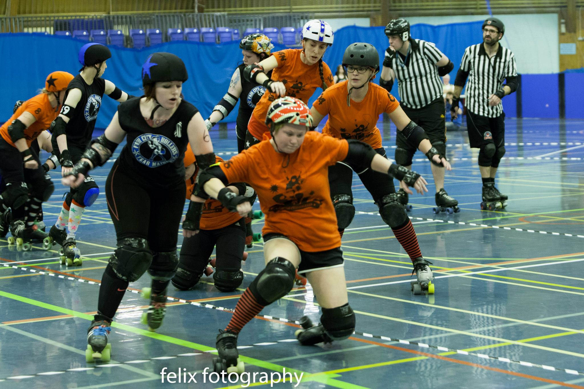 Pistol Panties and the rest of FCR vs Furness Firecrackers. (Photo by Ian Mccreadie)