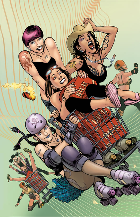 Probably the most popularly distributed preview from Roller Grrrls.