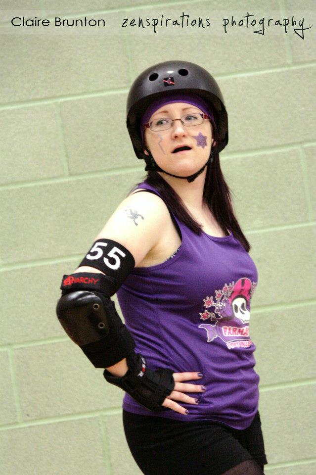 Evil Moogle takes a break during Fierce Valley's first home bout against Wirral Whipiteres