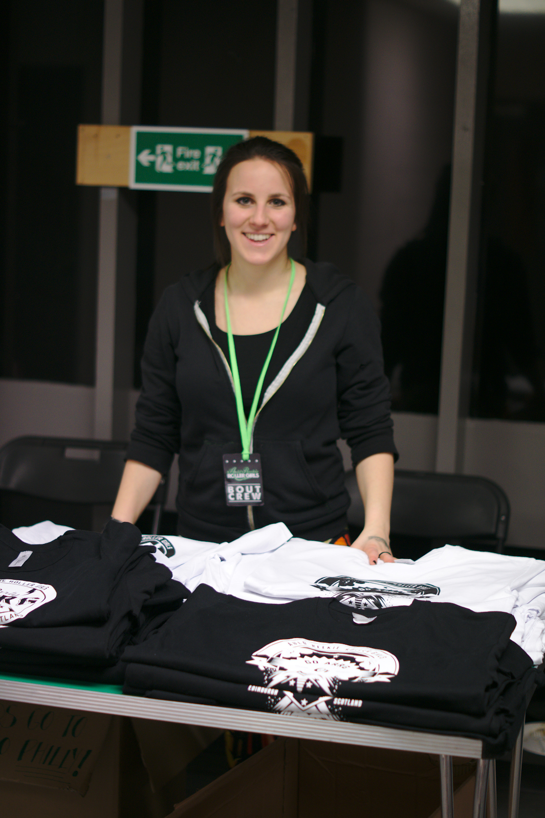 The Auld Reekie Limited Edition Merch stall, at their first Home Season bout of the year.