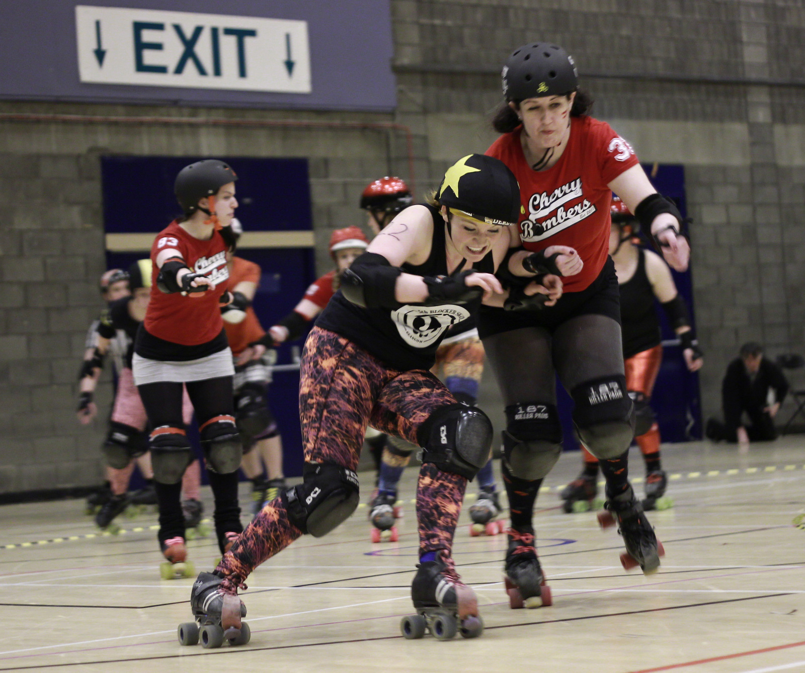 """New GRD Irn Bruiser Mona Rampage, playing as part of the composite team """"The Gavehearts"""" in Edinburgh."""