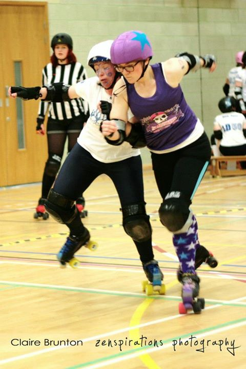 "Brawny jamming v Preston , in FVRG's second public bout. (Photo: Claire ""ChaosFaerie"" Brunton/zenspirations photography)"
