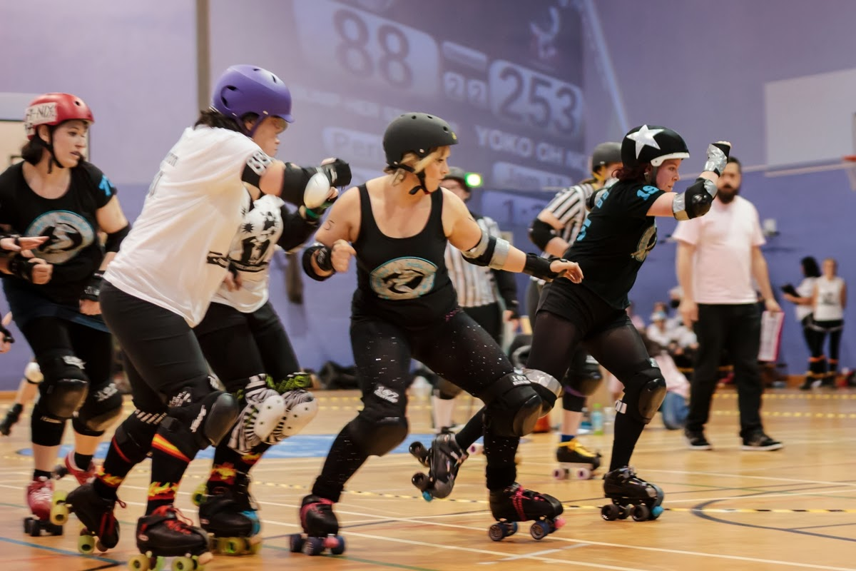 New Town Roller Girls facing Furness Firecrackers B in their debut bout.