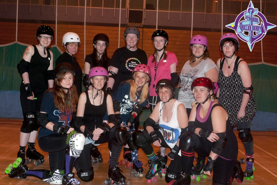 Ayrshire Roller Derby's earliest skaters.