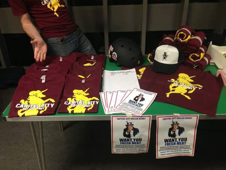 CCRD merchandise at Meadowbank Stadium