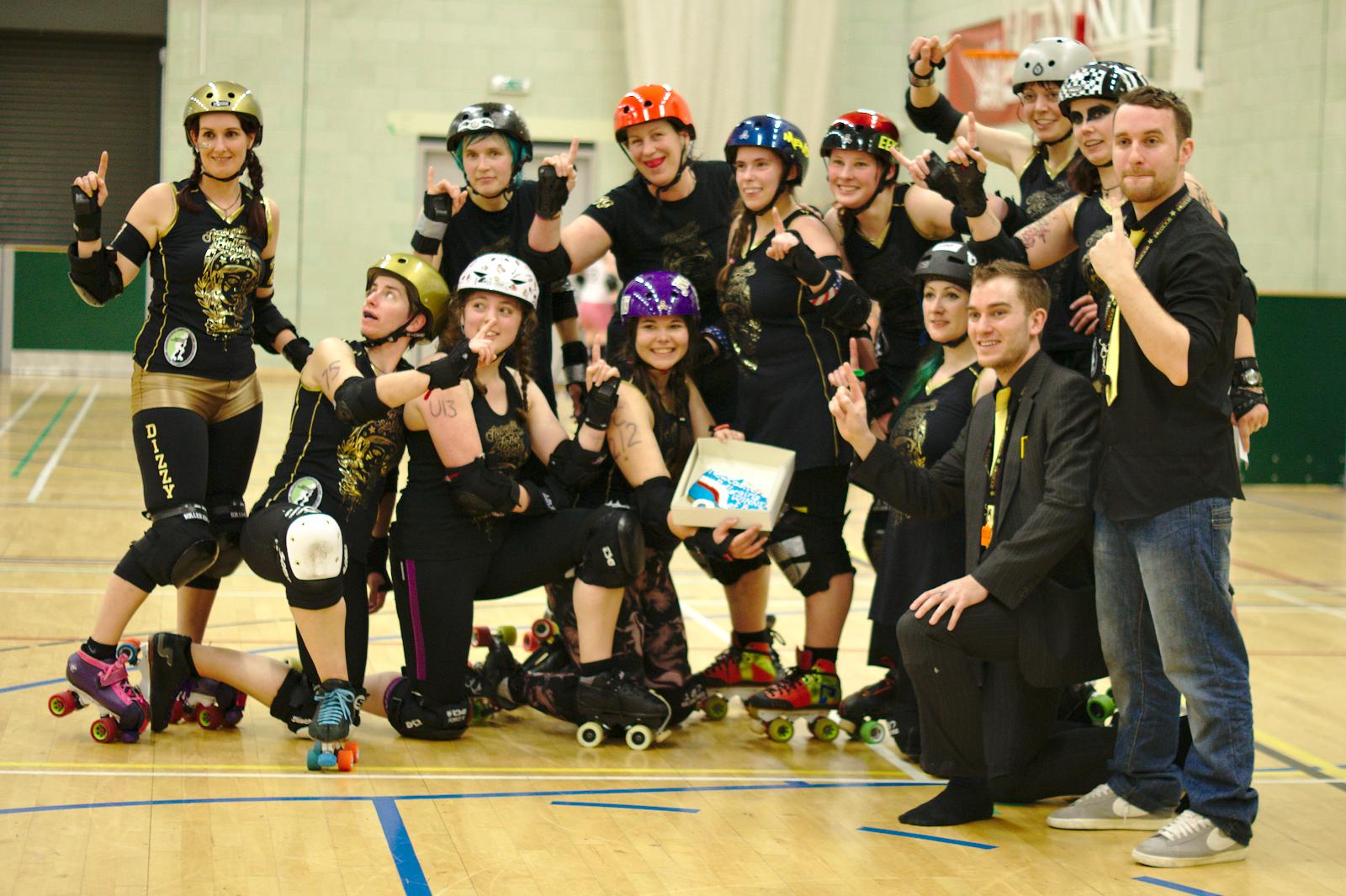 Newcastle Roller Girls, winners of BoB.