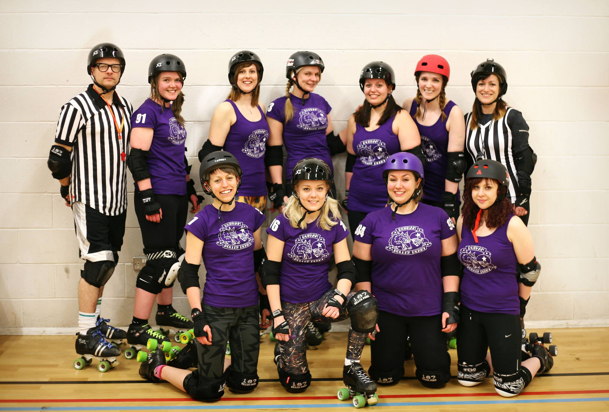 The Durham Roller Derby skaters!