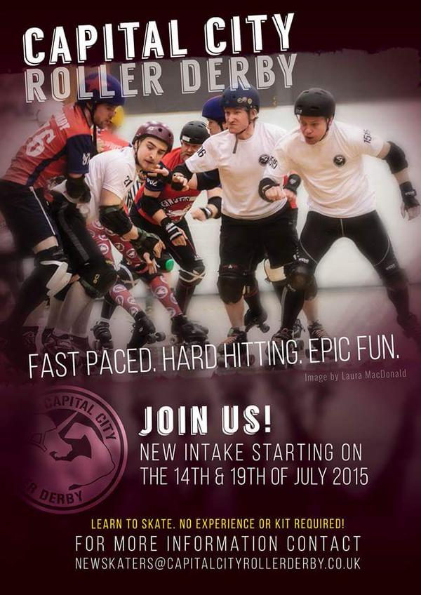 Capital City new skater intake 14th and 19th of July 2015